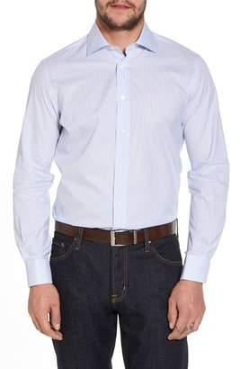 Luciano Barbera Trim Fit Stripe Sport Shirt