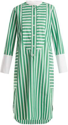 Maison Rabih Kayrouz Striped cotton-poplin shirtdress