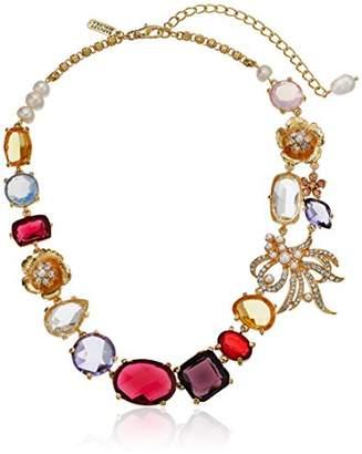 Badgley Mischka Womens Multi Round Mini-Statement Necklace