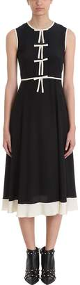 RED Valentino Stretch Frisottine Dress With Bow Detail