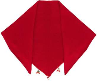 Cashmere In Love cashmere floral embroidered scarf