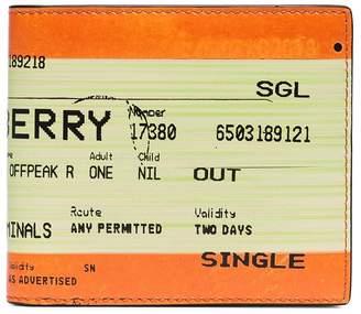Burberry ticket-print billfold wallet
