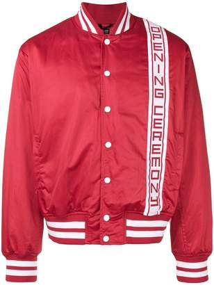 Opening Ceremony logo stripe bomber jacket