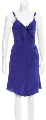 Vena Cava Draped Silk Dress