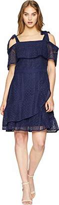 Adelyn Rae Women's Maxine Woven Lace Fit Flare