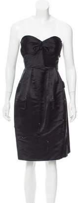 Vivienne Tam Strapless Silk Dress