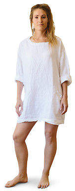 Bedtonic Pure Linen Bedding + Loungewear NEW Pure French Linen Poets Tunic (Various Colours) by Bedtonic Pure Linen Beddi