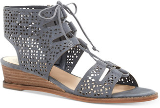 Vince Camuto Retana Lace-Up Demi-Wedge Sandals $119 thestylecure.com