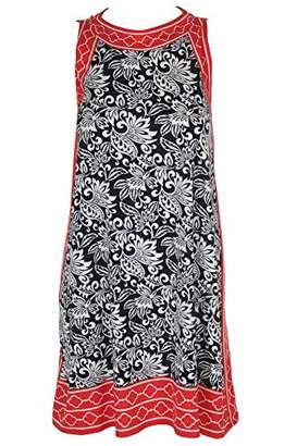 Max Studio Women's Printed Matte Jersey Trapeze Dress