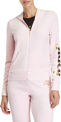 Juicy Couture Robertson Velour Zip Hoodie