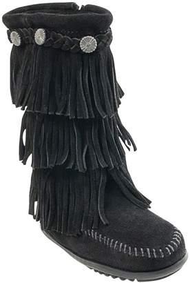 Minnetonka 3-Layer Fringe Boot - Girls'