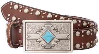 M&F Western Studded Edge Aztec Buckle Belt Women's Belts