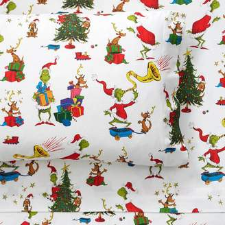 Pottery Barn Teen The Grinch And Max Organic Flannel Sheet Set