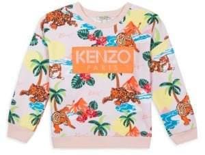 Kenzo Little Girl's Tiger Print Sweatshirt