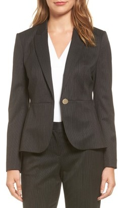 Women's Boss Jelanika Pinstripe One-Button Suit Jacket $625 thestylecure.com