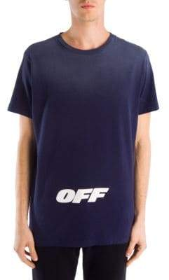 Off-White Wing Off Short-Sleeve Cotton Slim Tee