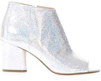 Maison Margiela Glossy White Leather Ankle Boots