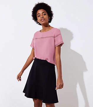 LOFT Tall Ponte Flippy Skirt
