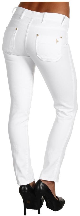 MiH Jeans Paris Mid-Rise Cropped Slim Leg in White (White) - Apparel