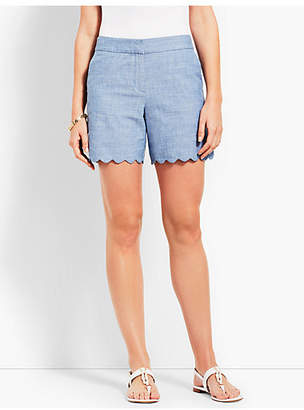 "Talbots 5"" Scallop Short - Chambray"
