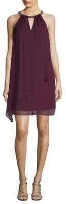 Eliza J Halter Chiffon Shift Dress