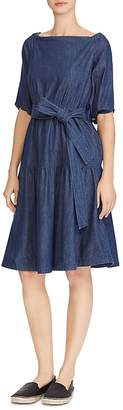 Lauren Ralph Lauren Chambray Off-the-Shoulder Dress