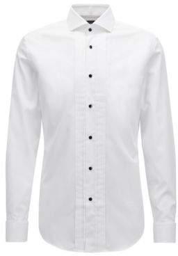 BOSS Hugo Slim-fit dress shirt in brilliant-white Austrian cotton 15.5 White