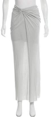 Helmut Lang Jersey Midi Skirt