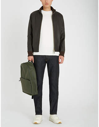 Canali Leather bomber jacket