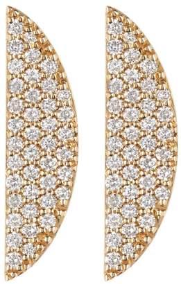 Lana 14K Gold Flawless Eclipse Diamond Pave Earrings - 0.58 ctw