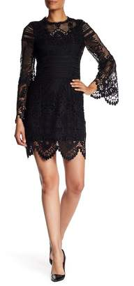Laundry by Shelli Segal Long Sleeve Venise Lace Shift Dress