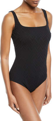 Gottex Jazz Square-Neck One-Piece Swimsuit