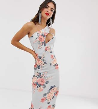 05489adbb6c9d Missguided Tall cut out shoulder midi dress in floral print