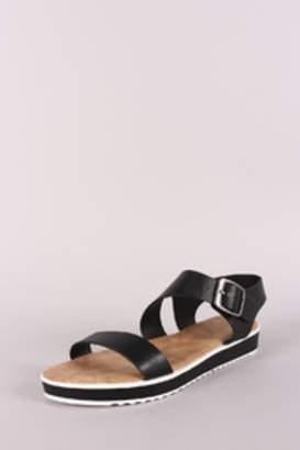 Bamboo Low Flatform Sandals