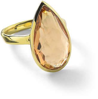 Ippolita 18k Rock Candy Single Medium Teardrop Ring in Orange Citrine, Size 7