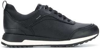 Geox smooth lace-up sneakers