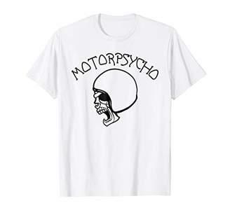 Motorpsycho Skull Helmet Biker Motorcycle Rider T-Shirt