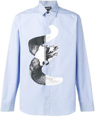 Just Cavalli contrast print fitted shirt