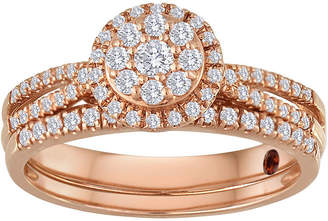 JCPenney MODERN BRIDE 1/2 CT. T.W. Diamond 10K Rose Gold Bridal Ring Set