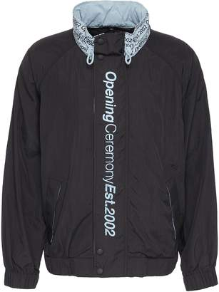 Opening Ceremony Logo embroidered retractable hood unisex windbreaker jacket