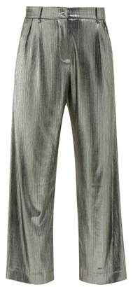 BLAZÉ MILANO Nova Metallic Jersey Trousers - Womens - Silver