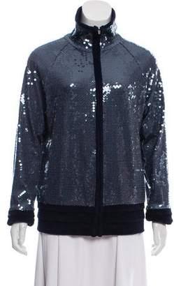 Chanel Sequined Zip-Up Jacket
