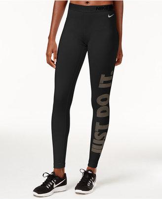 Nike Pro Warm Just Do It Dri-FIT Leggings $55 thestylecure.com