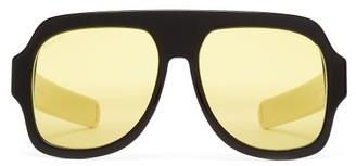 Gucci D Frame Acetate Sunglasses - Mens - Black