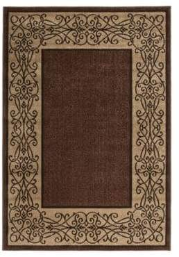 Home Outfitters 6x9 Iron Lattice Mink Outdoor Area Rug