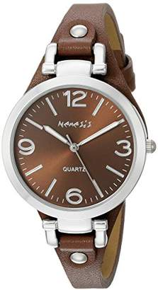 Nemesis Women's NS216B Brown Classy Series Leather Band Analog Display Japanese Quartz Brown Watch