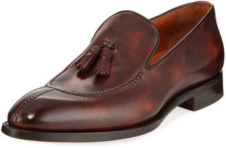 Bontoni Magnifico Burnished Leather Loafer