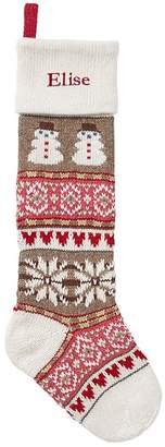 Pottery Barn Kids Snowman Classic Fair Isle Stocking