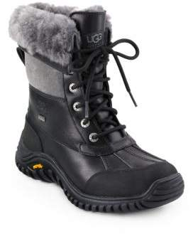 UGG Adirondack II Lace-Up Shearling& Leather Boots