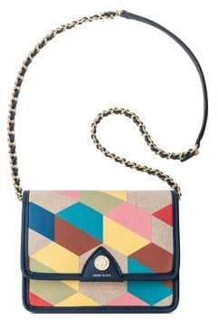 Anne Klein Multicolored Chain Flap Crossbody Bag